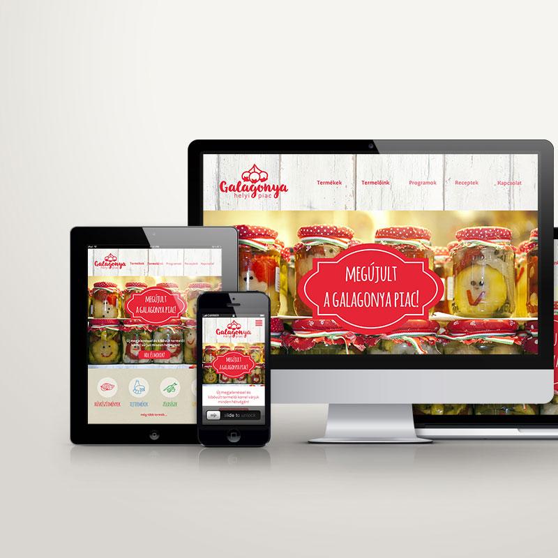 Weboldal, webdesign, arculat - termelői piac
