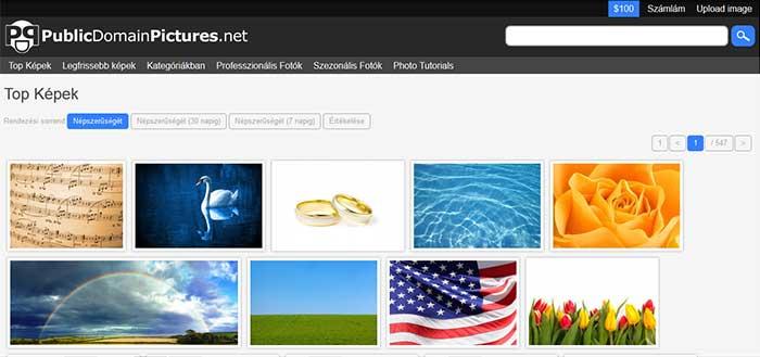 Public domain fotók