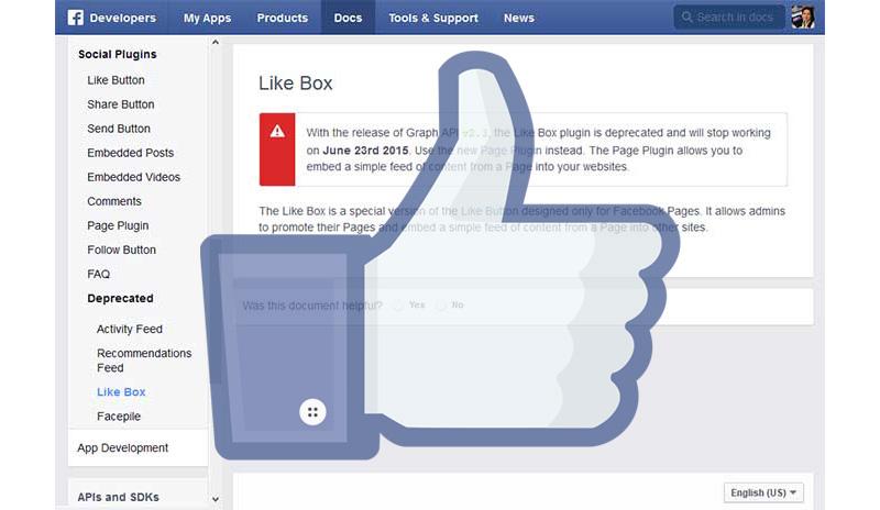 Nyugdíjba megy a Facebook Like Box