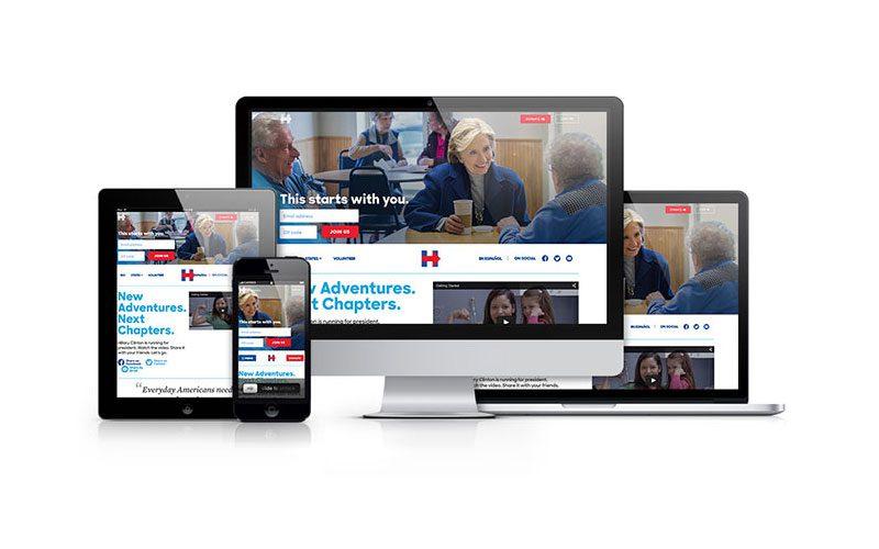 Hillary Clinton reszponzív weboldala