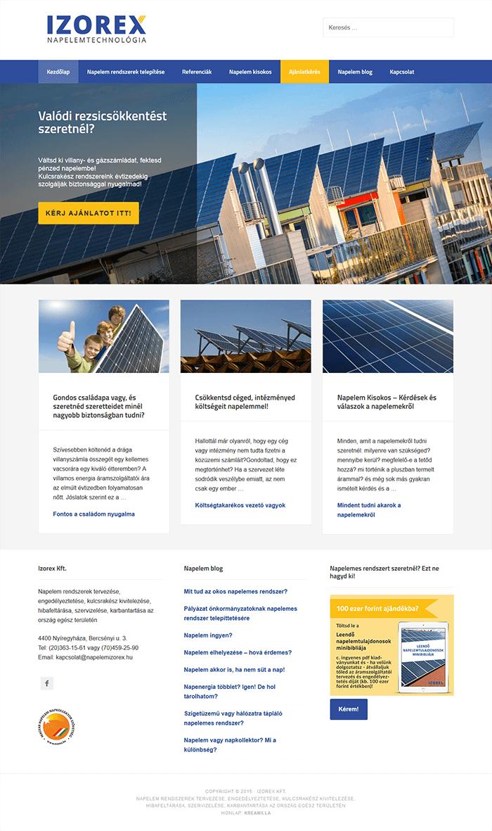 Weboldal készítés - Izorex Kft.