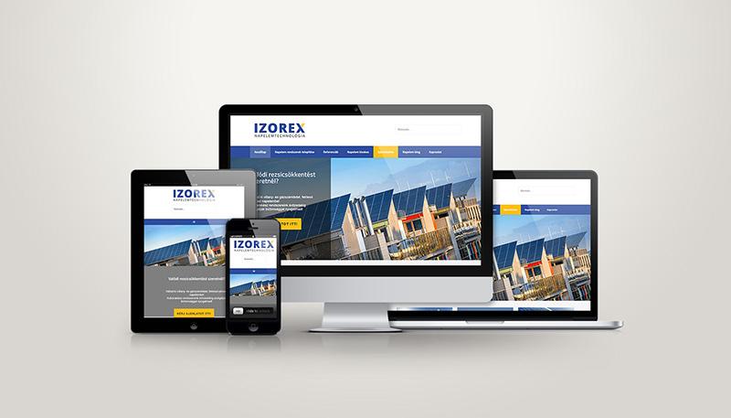 Izorex reszponzív weboldal