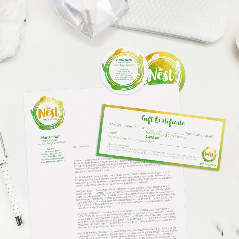 The Nest logó és névjegy megtervezése