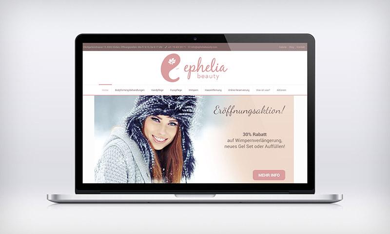 Ephelia Beauty reszponzív weboldal