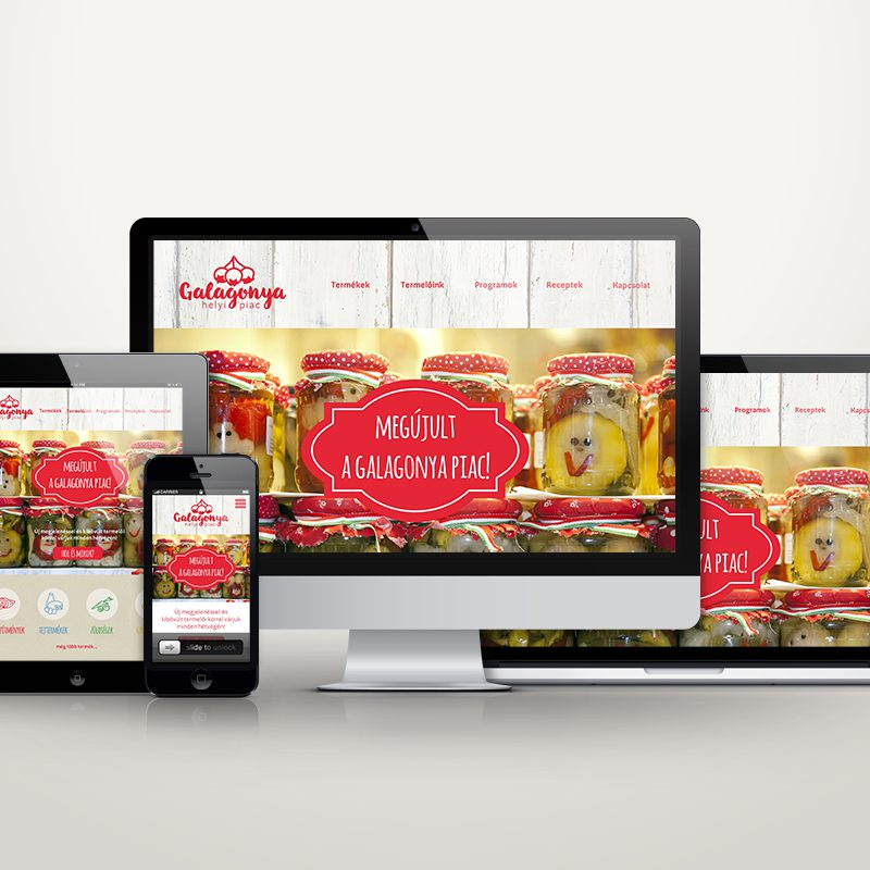 Galagonya termelői piac nagyarculat (logó, ikonok, webdesign)