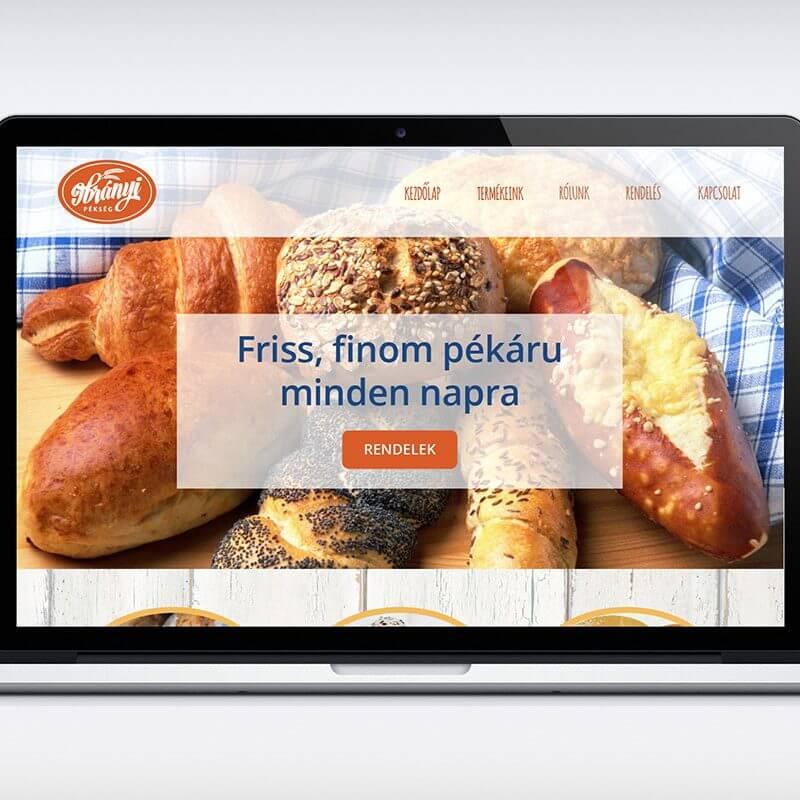 Ibrányi Pékség logó és webdesign