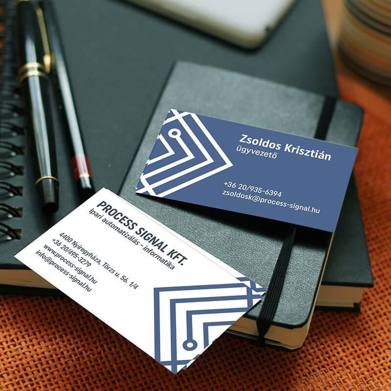 Process Signal Kft. nagyarculat (logó, névjegykártya, levélpapír, webdesign)