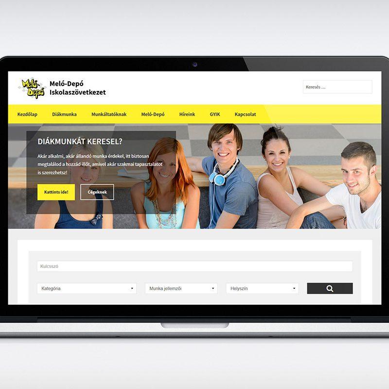 Diákmunka Budapest reszponzív weboldal készítés