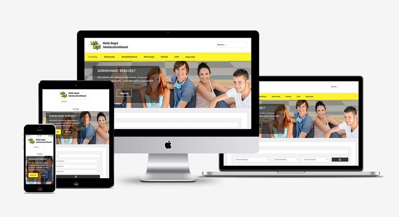 Reszponzív weboldal készítése diákmunka szövetkezet részére