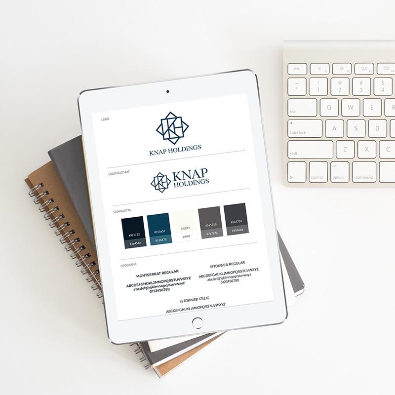 Knap Holdings brand board (arculati elemek)