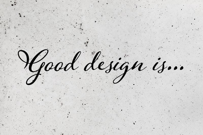 A jó design – kedvenc dizájn idézeteim