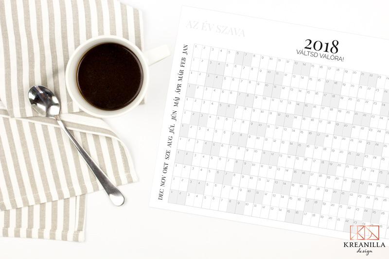 Ingyen letölthető évtervező 2018-ra