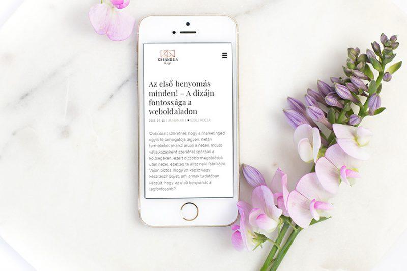 Webdesign elemek - weboldal tervezés - első benyomás